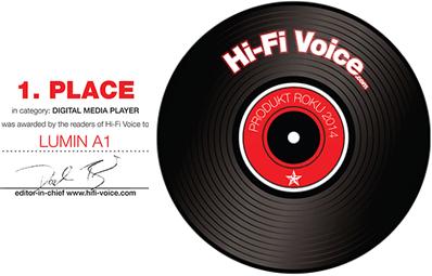 HiFi Voice LUMIN A1 Award