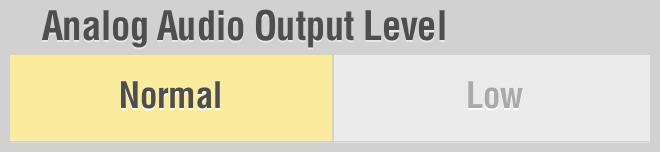 Lumin Settings Analog Audio Output Level