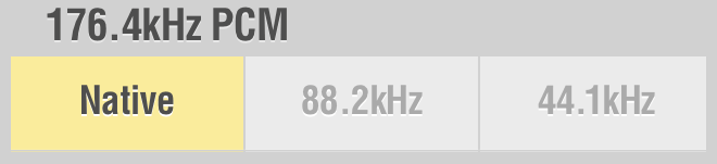 Lumin Settings 176.4kHz PCM