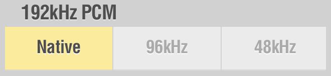 Lumin Settings 192kHz PCM